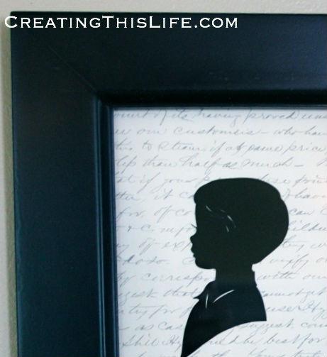 Framed silhouette at CreatingThisLife.com
