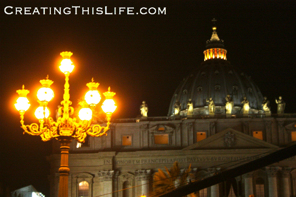 St. Peter's in Rome on Christmas Eve