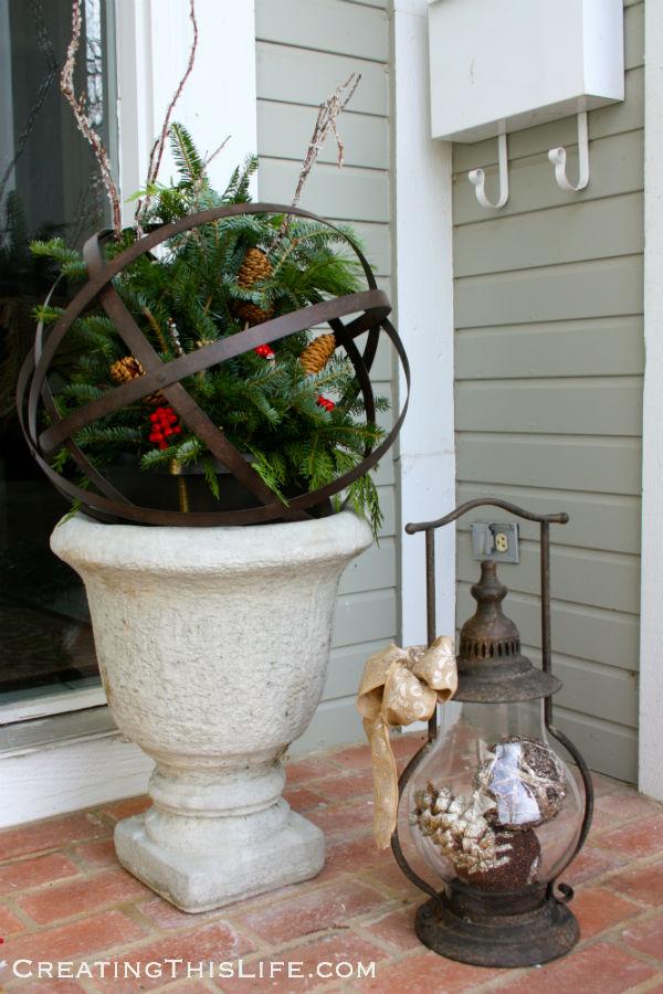christmas urn orb lantern