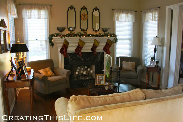 Christmas Living Room Before