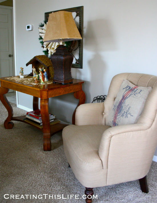 Family Room Chair and Nativity