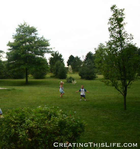 Football field in distance