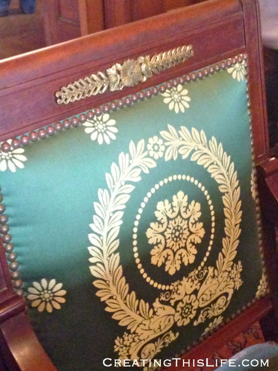 dining room chair detail