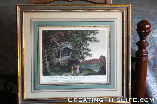 framed estate sale print