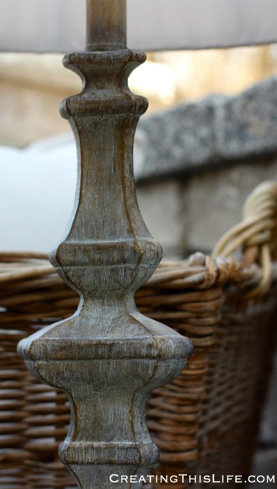 lamp base closeup