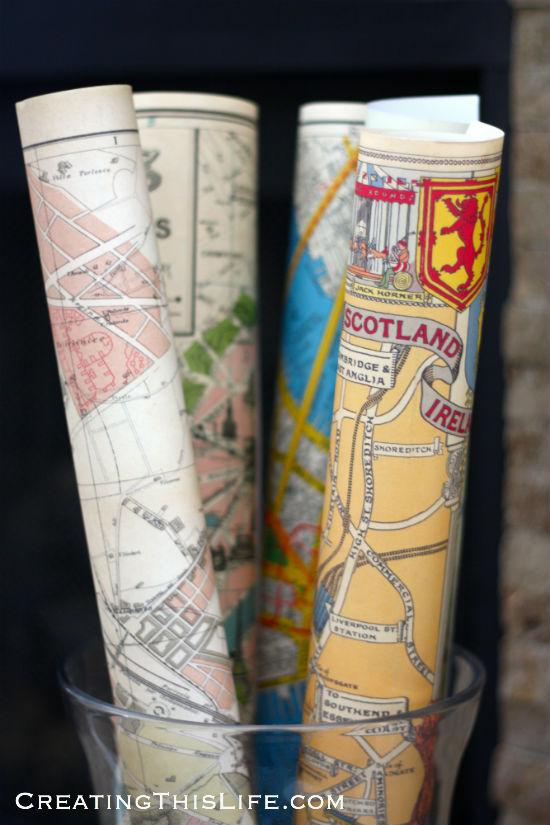 maps in vases
