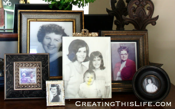 Easy Mothers Day decor at CreatingThisLife.com