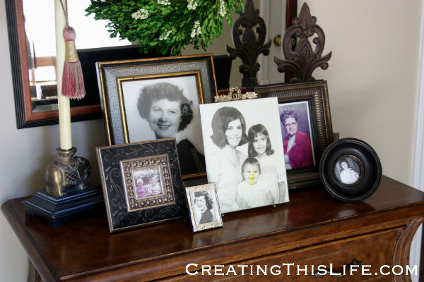 Frame photos of your mothers and grandmothers for Mothers Day