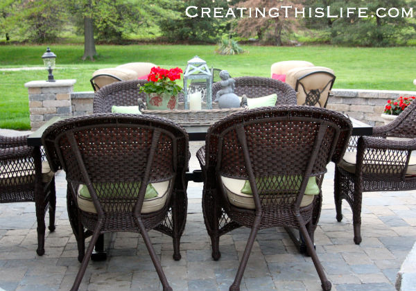 Patio before and after pictures at CreatingThisLife.com