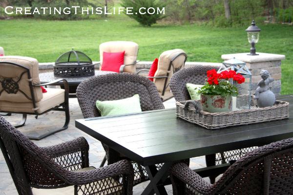 Patio furniture ideas at CreatingThisLife.com