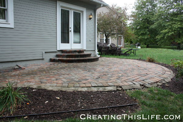Paved patio before and after