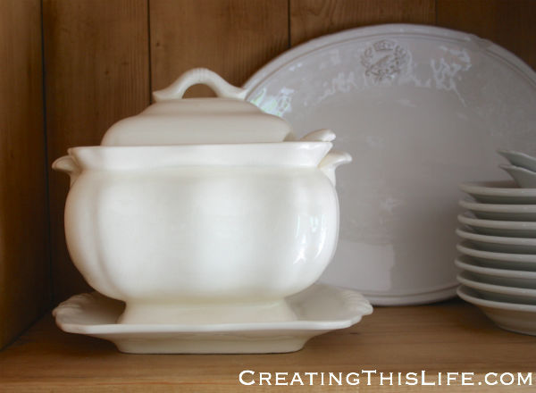 White lidded soup tureen