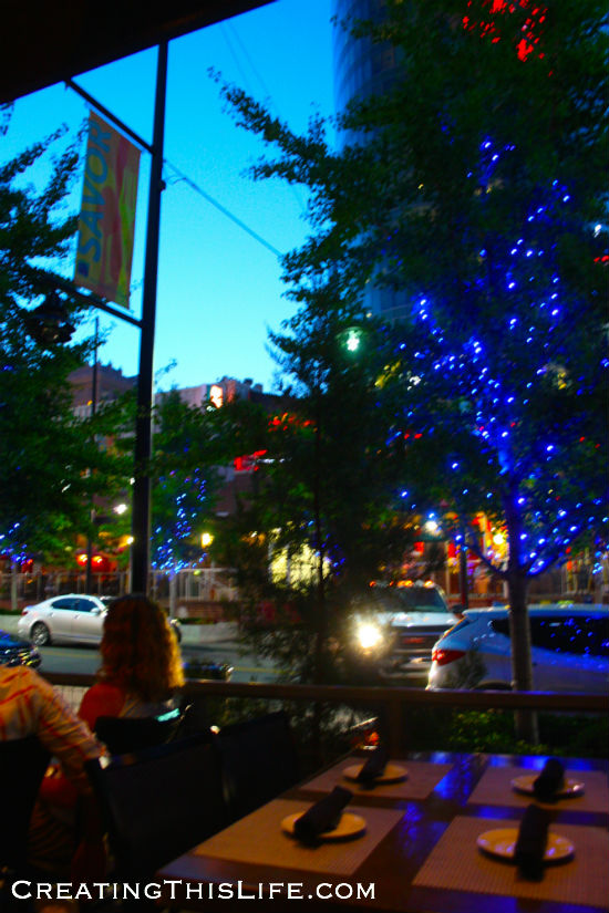 Kansas City Power and Light District Blue Lights