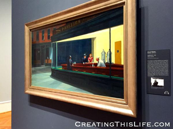 Nighthawks at Chicago Art Institute