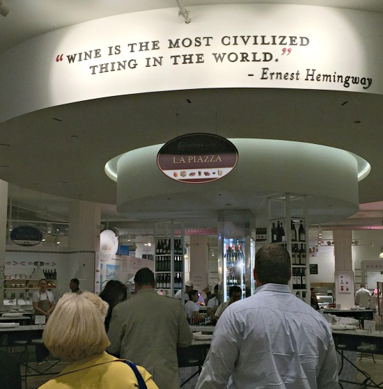 Hemingway Quote at Eataly