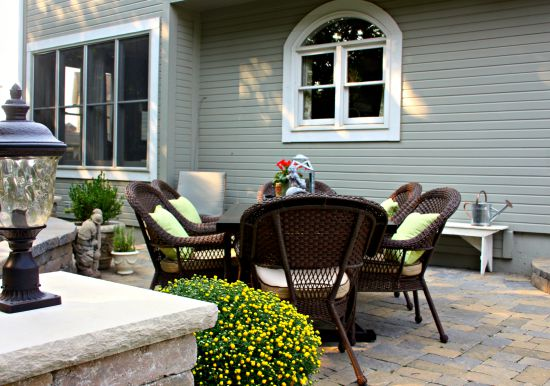 late summer patio