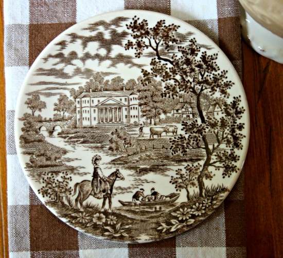 Small transferware dish