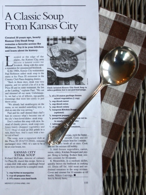 Kansas City Plaza III Steak Soup Recipe