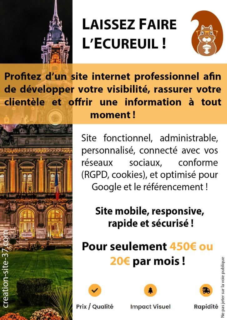 Flyer création site internet Tours
