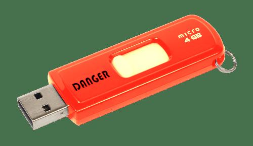Danger clef usb