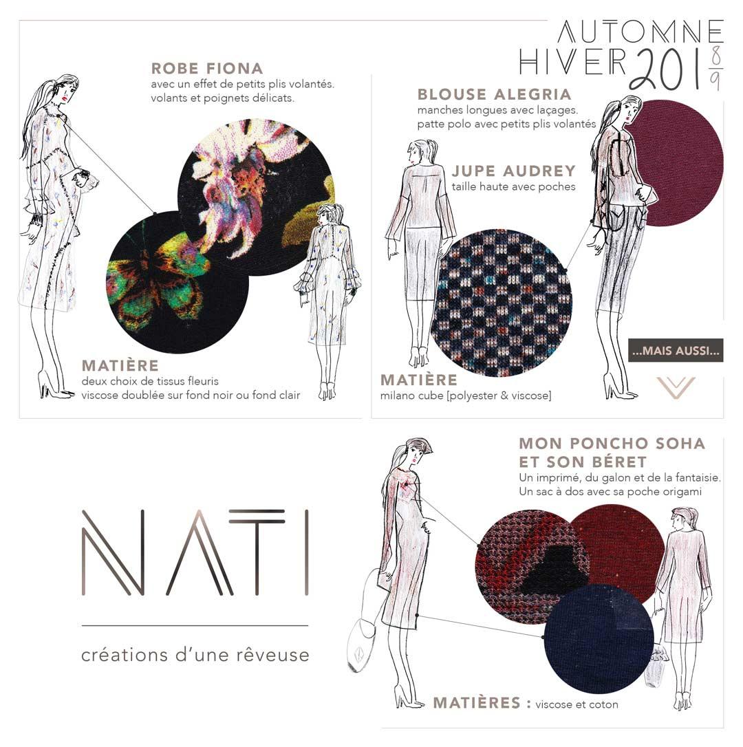 NATI - créations d'une rêveuse | Créatrice de mode | Annecy & Villaz | collection automne hiver 2019