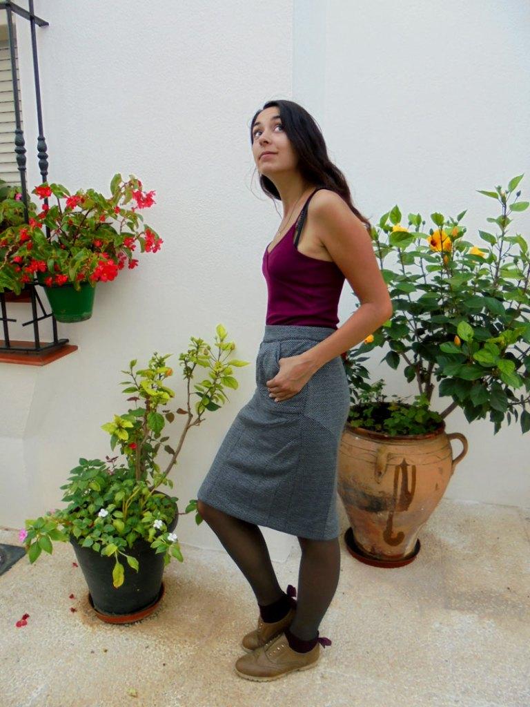 NATI - créations d'une rêveuse | Créatrice de mode | Annecy & Villaz | Jupe Audrey - automne hiver 2019