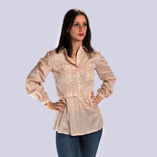 NATI - créations d'une rêveuse | Créatrice de mode & prêt à porter féminin | Annecy & Villaz | Boutique | Chemise Rosemary Diamond Blush - Automne-Hiver 2019