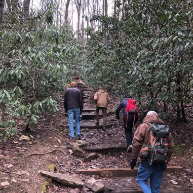 CCA retreat 2020 hike up mtn