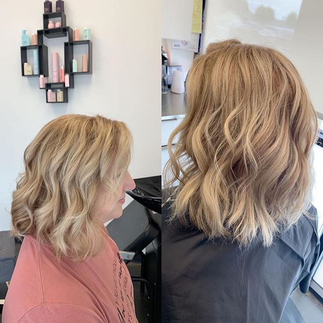 Before and after Highlight and haircut in Greenville SC