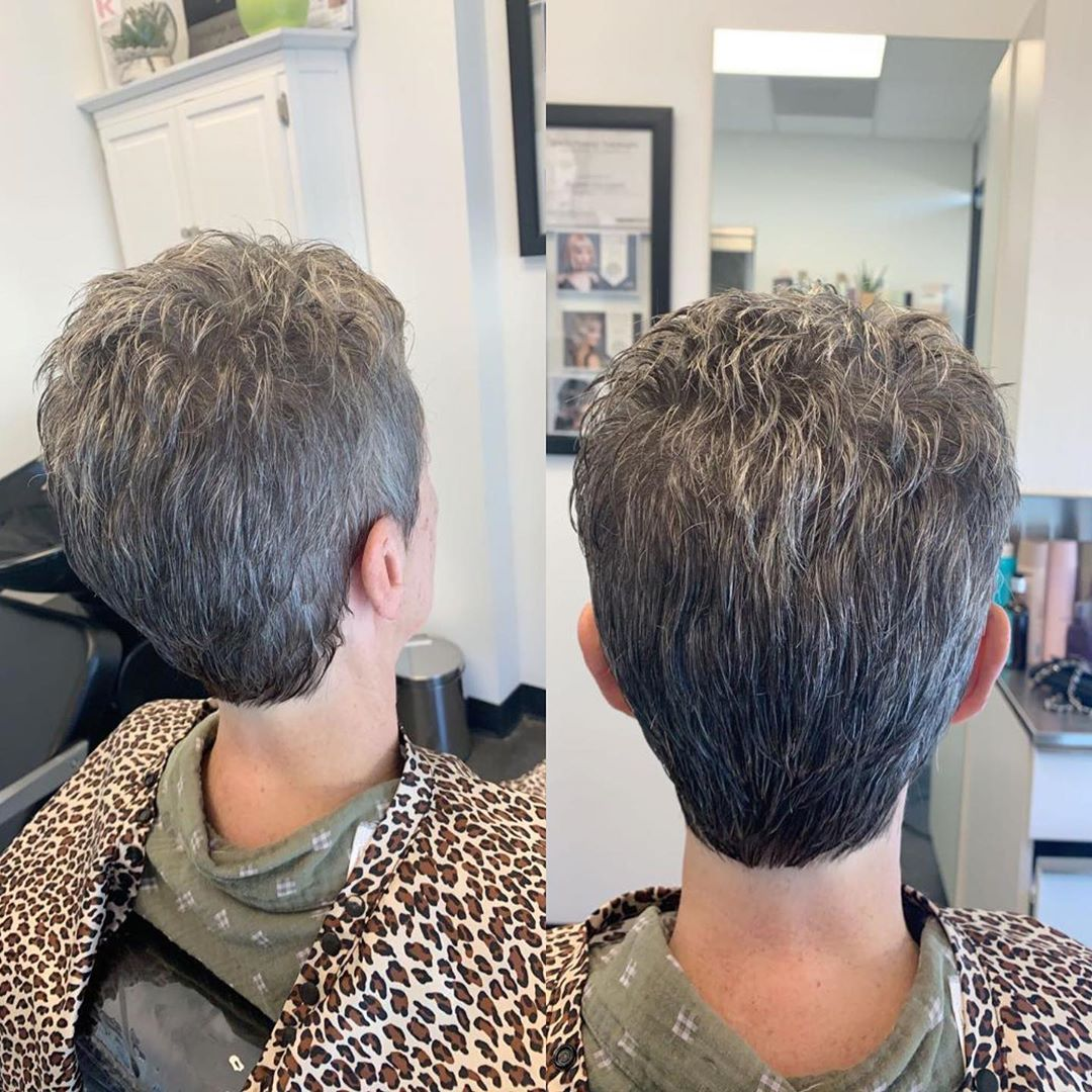 women short hair cut in Greenville SC