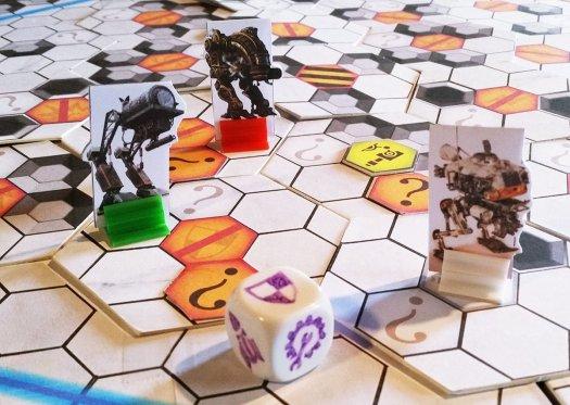Plateau de jeu du prototype Warbot Arena