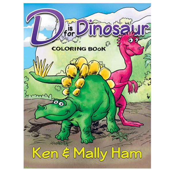 D is for Dinosaur Coloring Book – Creation Moments