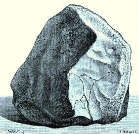 Orgueil meteorite painting
