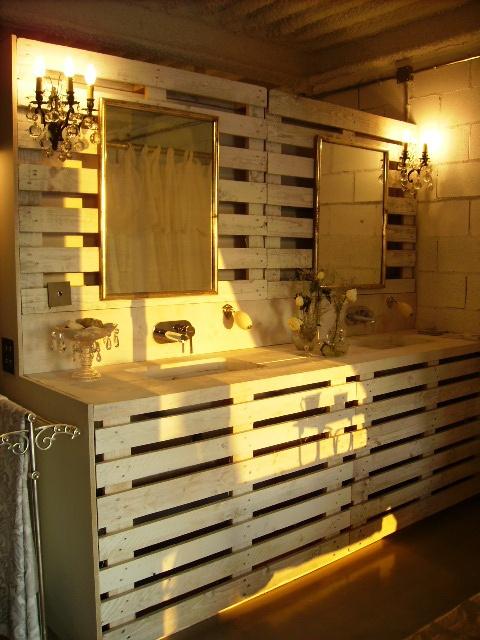 Meuble Palette Pour Salle De Bain Creation Palette