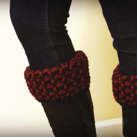 unique wool cowl boot cuffs set