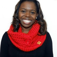 Chunky Cowl and Collar in Red