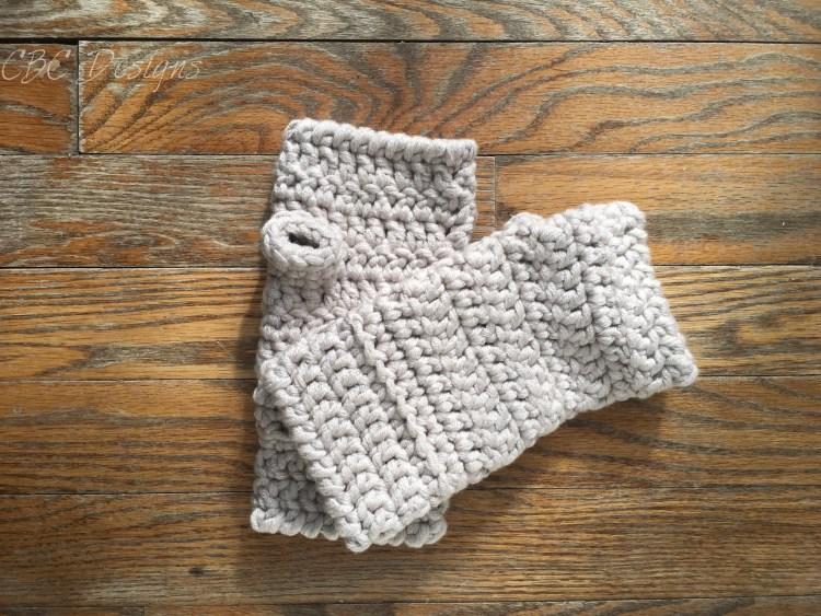 Chunky Fingerless Gloves Free Crochet Pattern