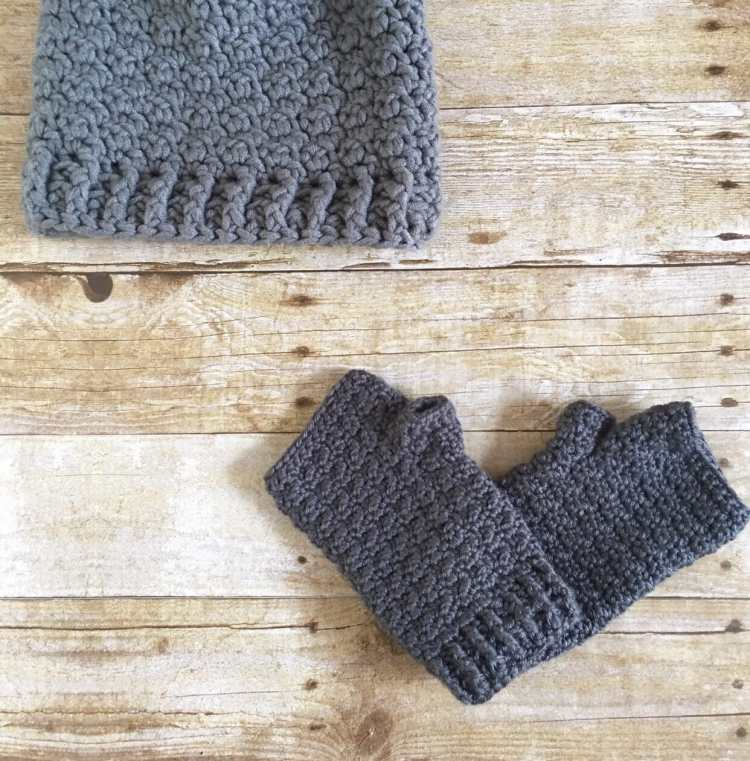 Free Crochet Pattern: Lemon Peel Fingerless Gloves. This pattern has lots of texture that is easy to create, and pairs well with the Rainy Day Hat. Visit creationsbycourtneyw.com for more info.