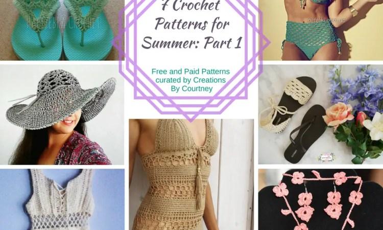 7 Summer Crochet Pattern Roundup, Part 1