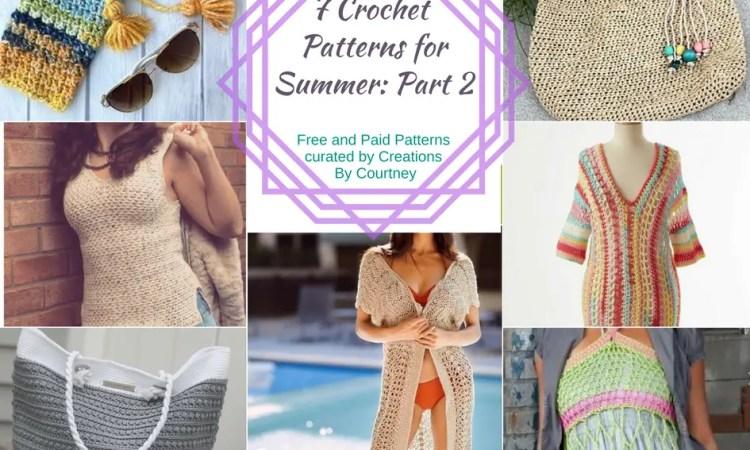 Summer Crochet Pattern Roundup