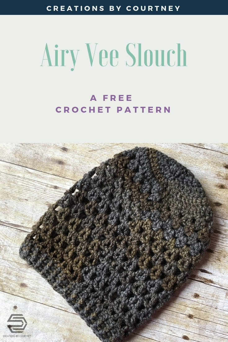Airy Vee Slouch, a free crochet pattern