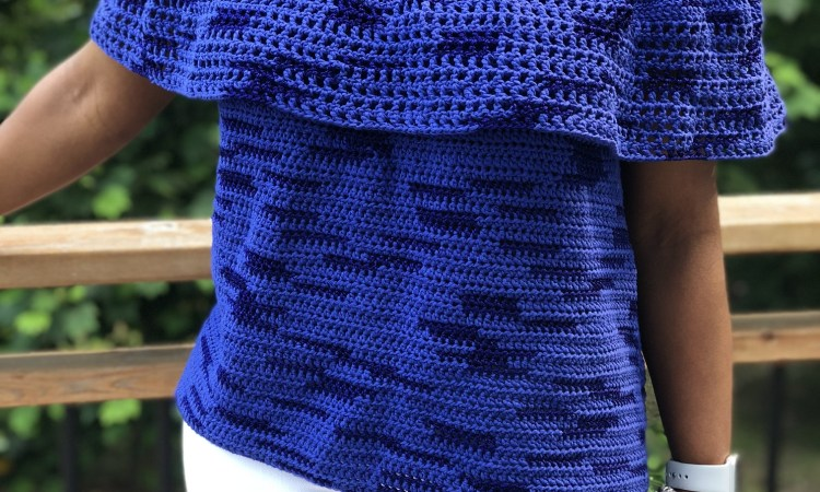 Sea of Summer Top, an easy crochet pattern that shows off your style and the yarn
