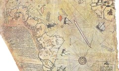 Piri Reis World Map Detail- WikiCommons
