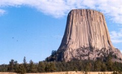 Devils Towers West wall is a direct vertical climb of 600 ft