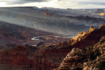 Sunbeams over the Grand Canyon, photo credit: Nate Loper