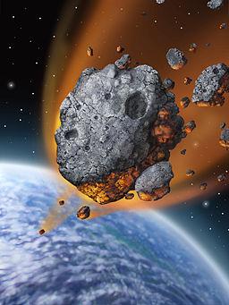 Artwork of Meteorite falling: WikiCommons