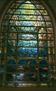 The Holy City window by LC Tiffany photo James G. Howes [Attribution], via Wikimedia Commons