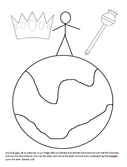 Creation Week 3 Coloring Page: King Adam