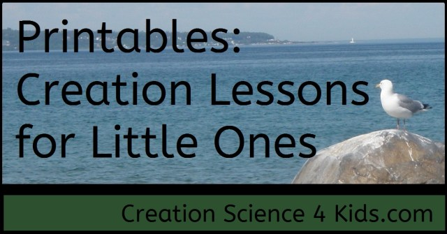 Printables: Creation Lessons for Little Ones