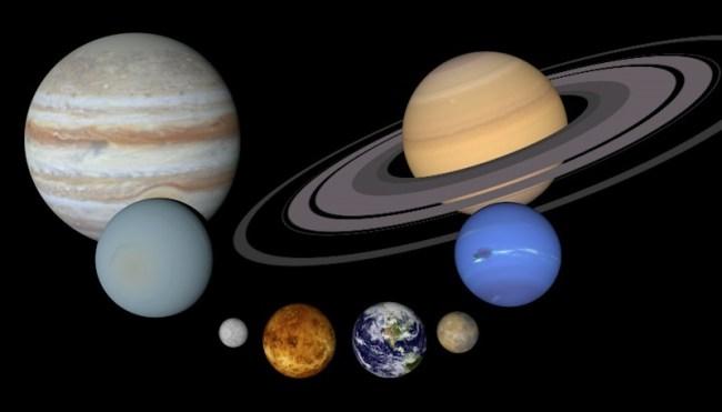 Planet Size Comparison, WikiCommons